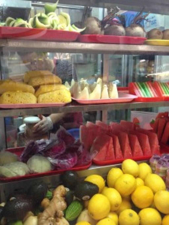 Fresh fruit juice stall