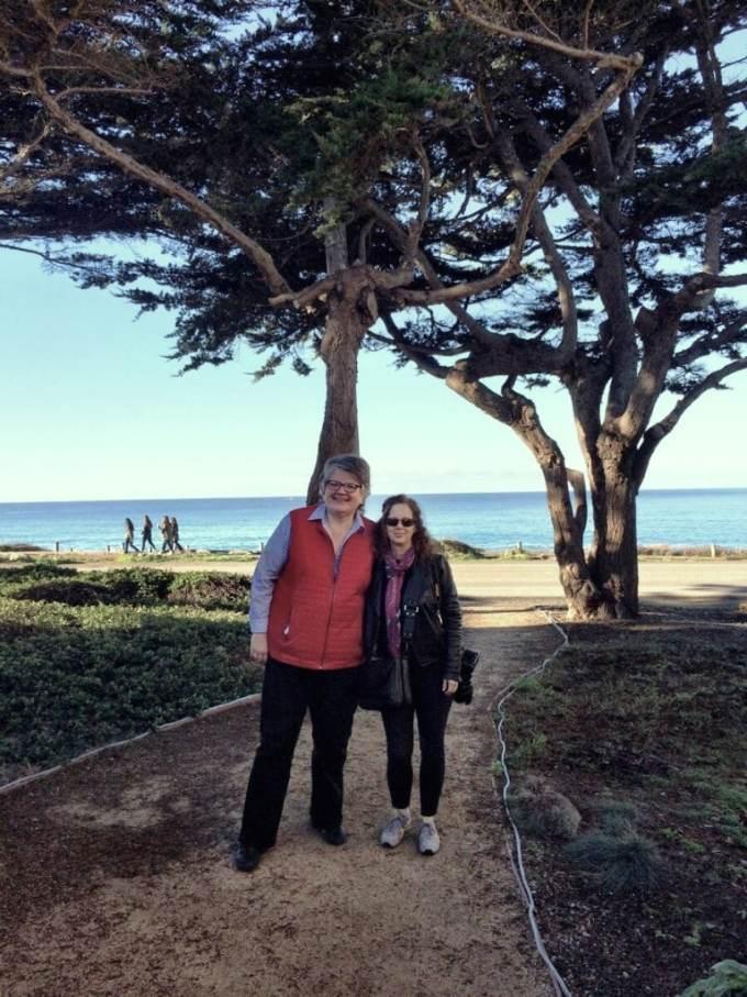 Me and Jody on Moonstone beach