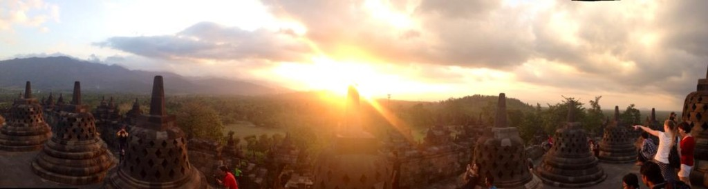 Sunset over Borobudur