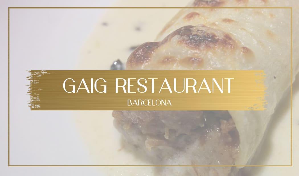 Gaig Restaurant Barcelona main