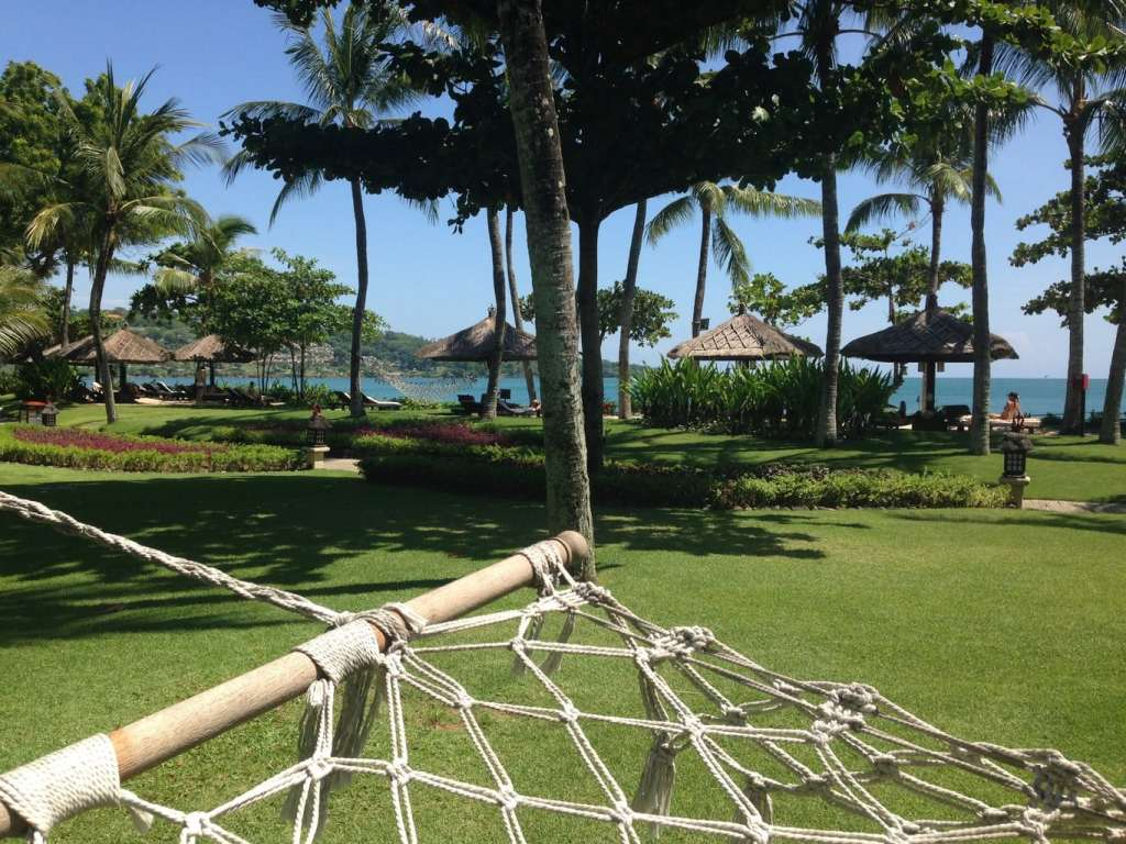 Hammocks at the Intercontinental Resort Bali