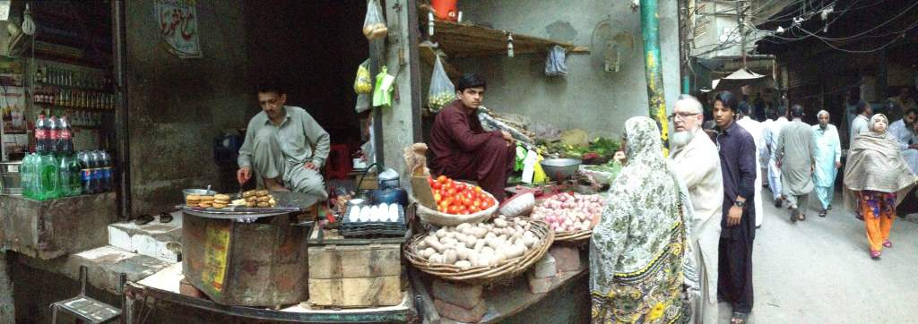 Food market in Lahore