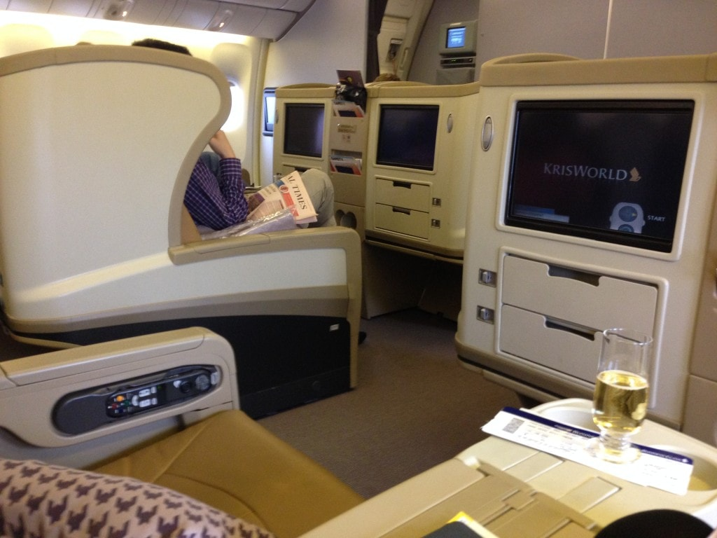 Business class seat Singapore