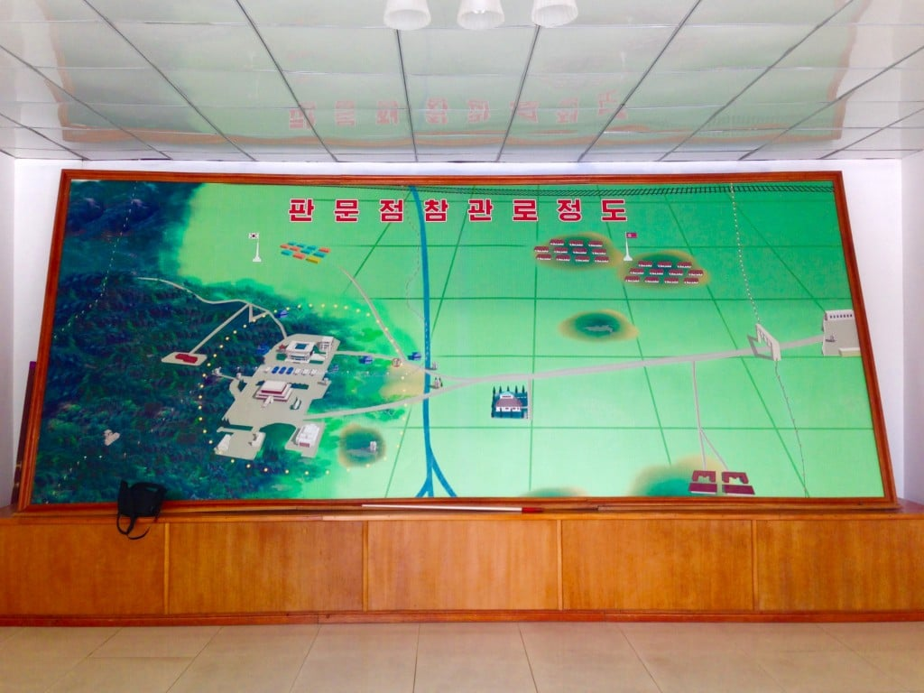 Map of the DMZ in North Korea
