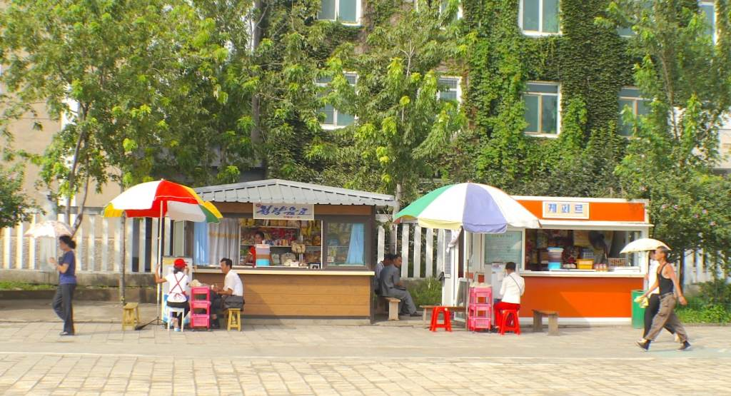 Street food in Pyongyang