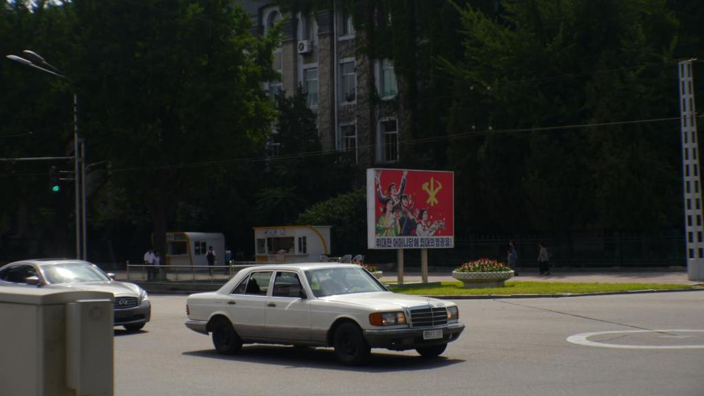 Foreign cars in Pyongyang