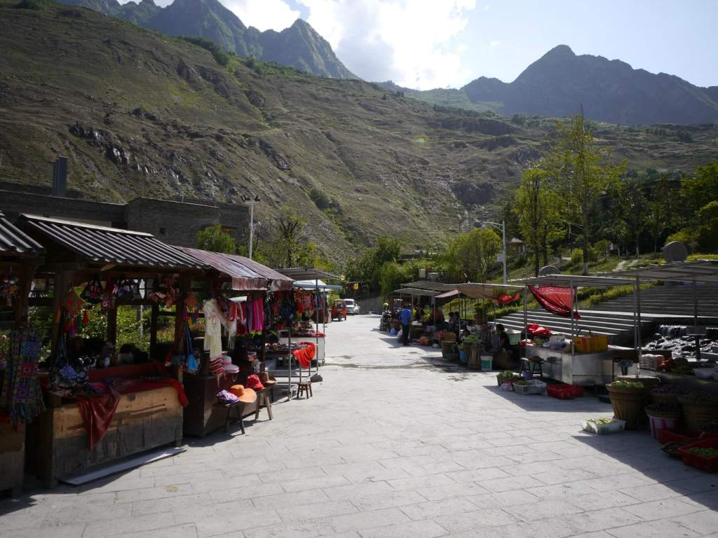 The Tourist Qiang Village