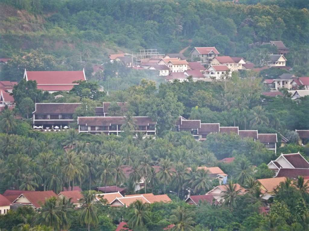 View of the hotel from Phou Si