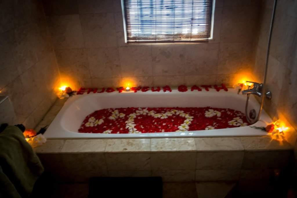 A flower bath