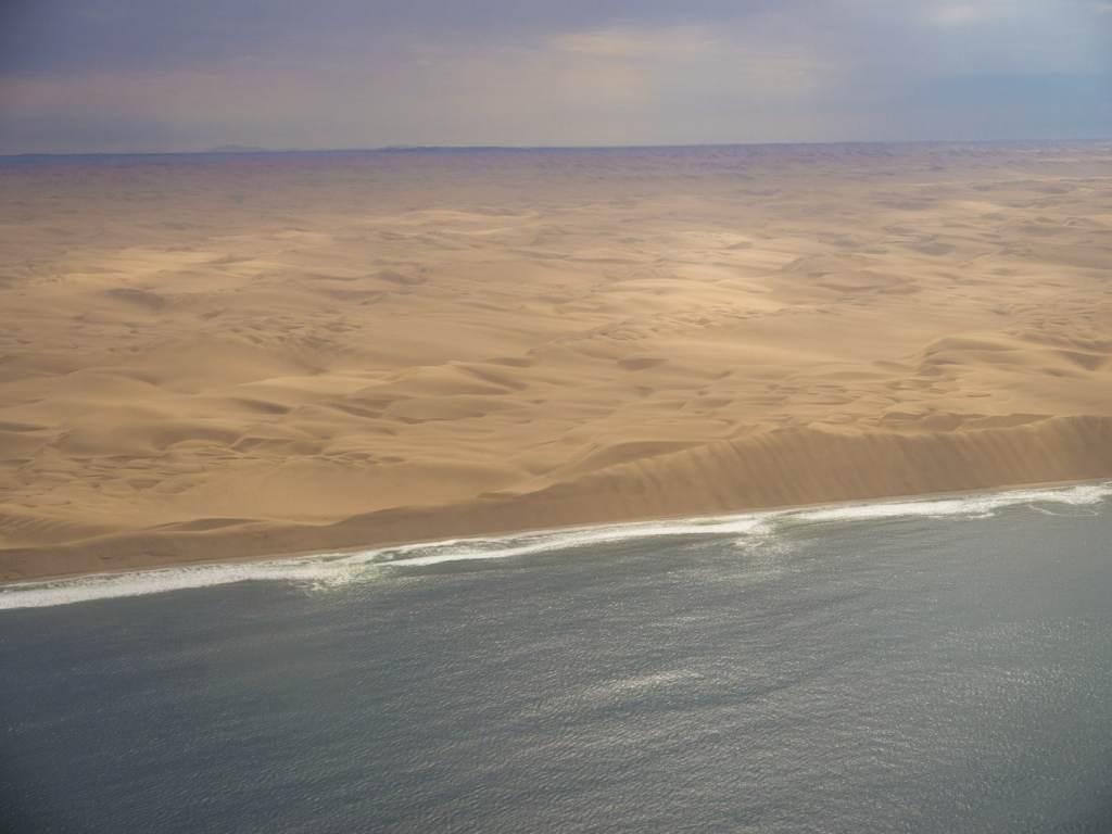 Skeleton coast aerial shot