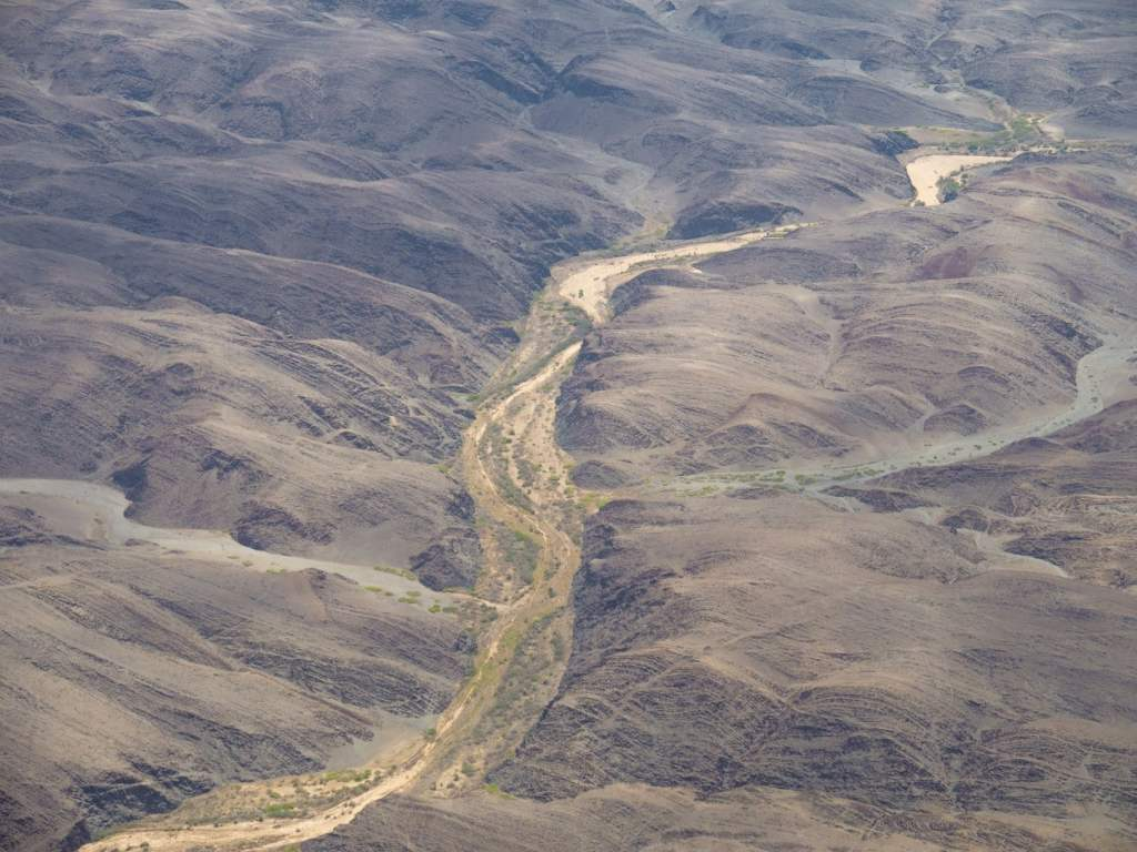 Dry Namibian rivers