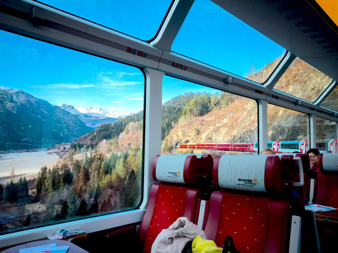 Beautiful scenery on the Glacier Express