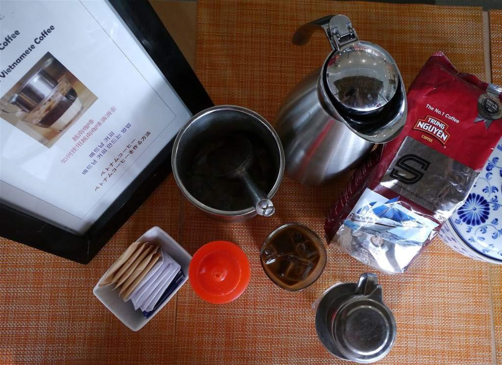 Vietnamese coffee making