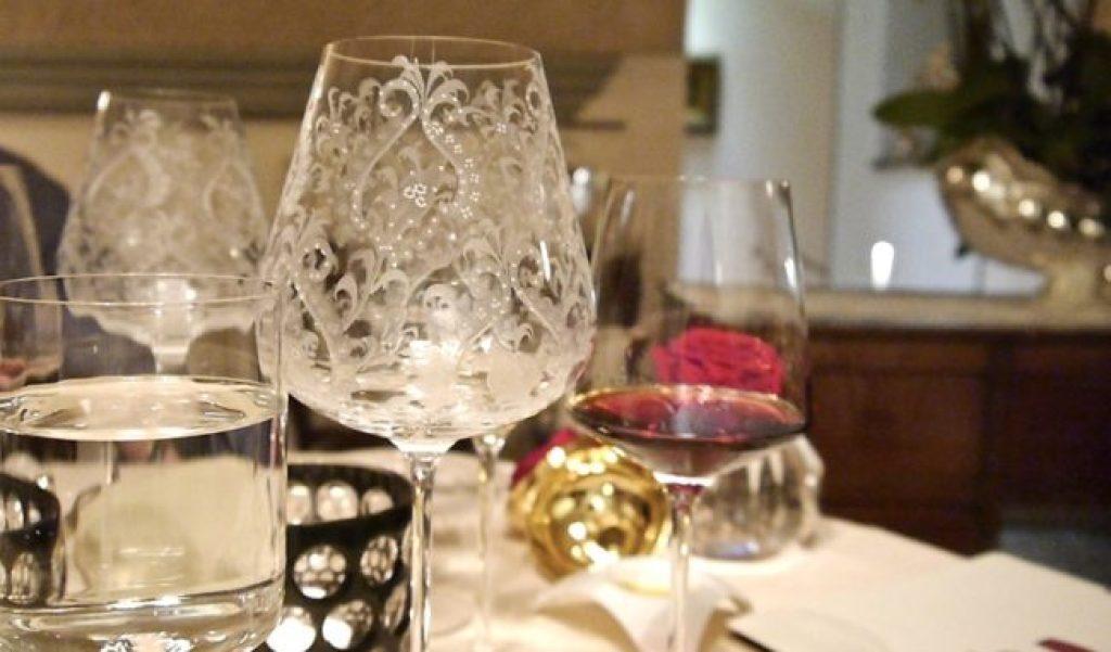 Enoteca Pinchiorri especially designed wine glasses