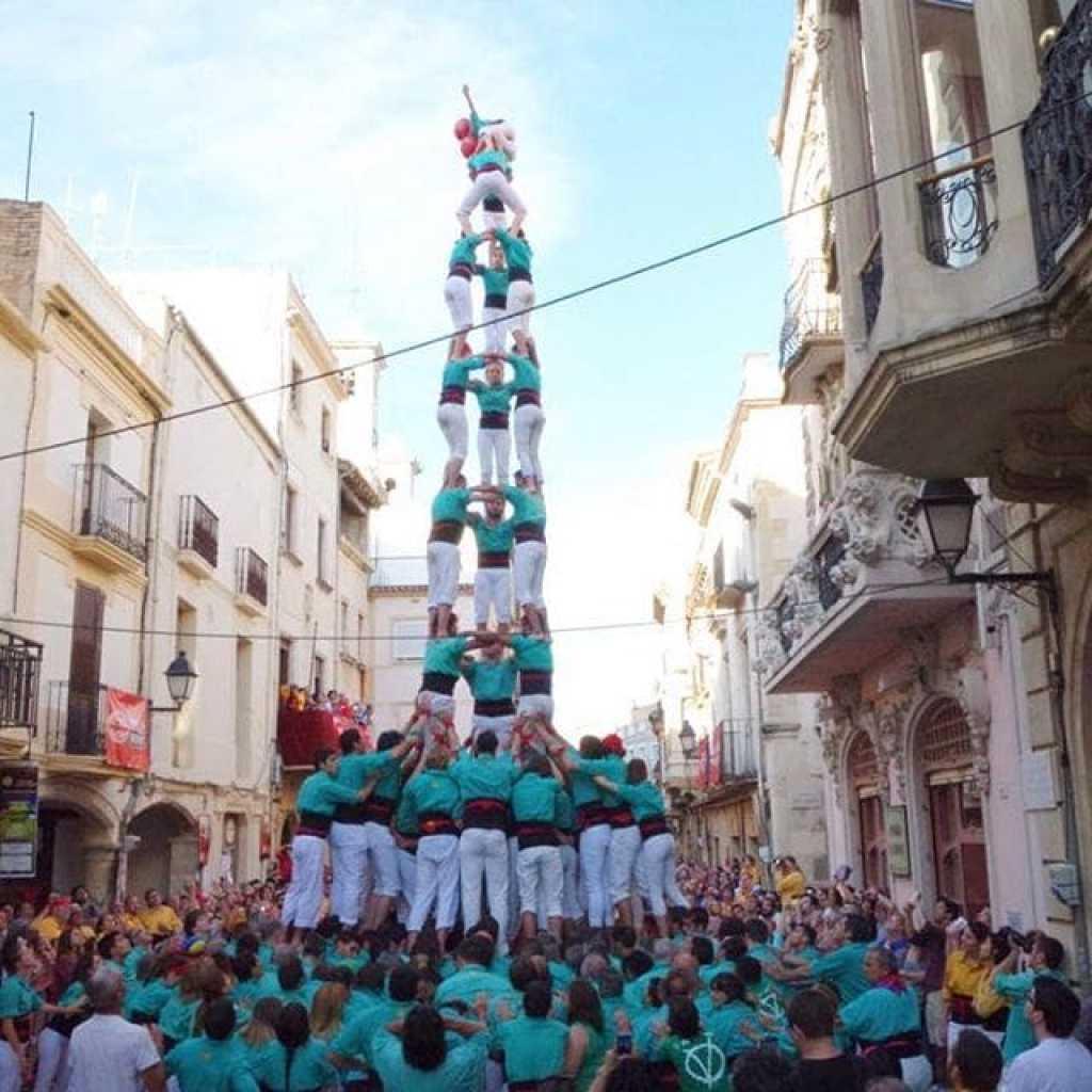 Els castellers de Vilafranca