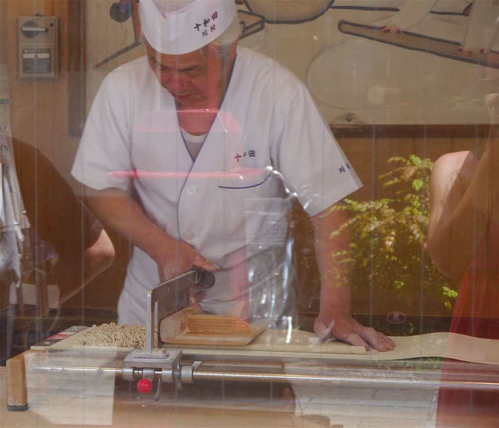 One of the things to do in Asakusa Soba noodle making