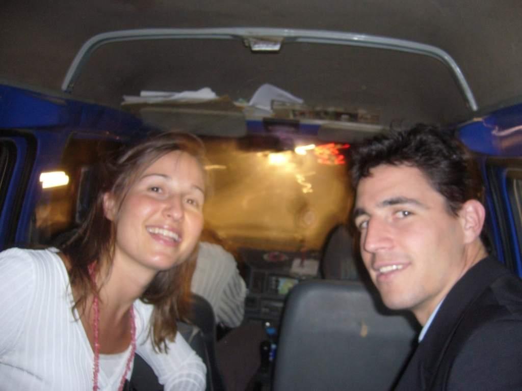 Hailing a regular minivan in Khartoum