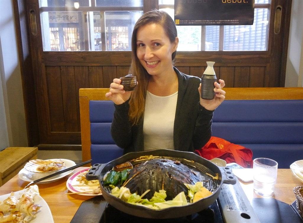 Niseko village lamb barbecue dinner