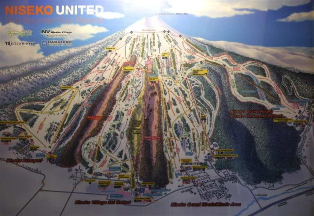 Niseko ski map