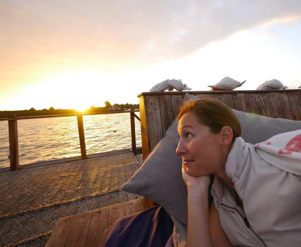 Sunrise at The Manta Resort underwater room