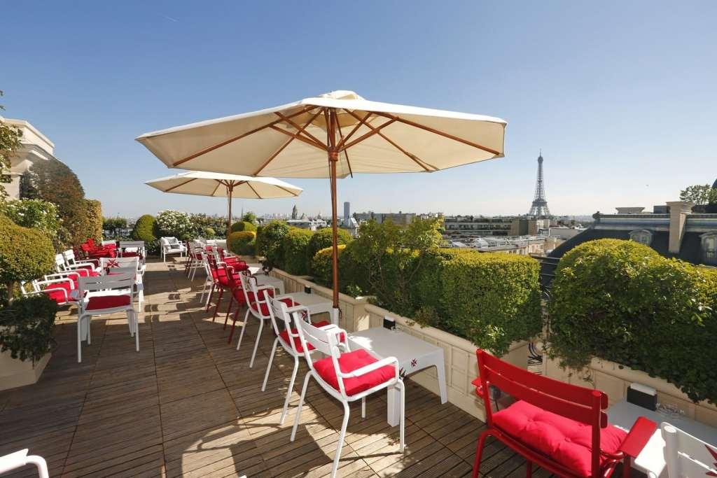 Terrace Bar View Eiffel Tower Hotel Raphael Paris