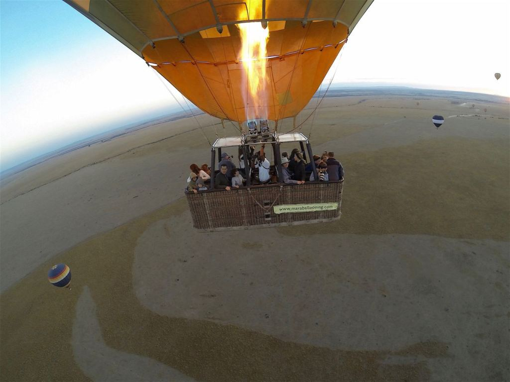 Hot air balloon over the Masai Mara