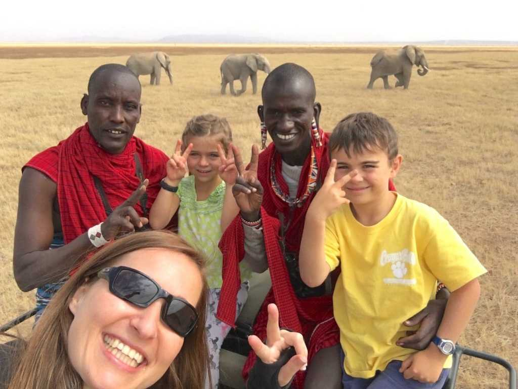 On a game drive in Amboseli with the troop