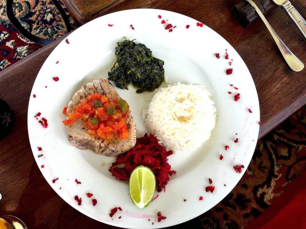 Spiced fresh seafood in Zanzibar