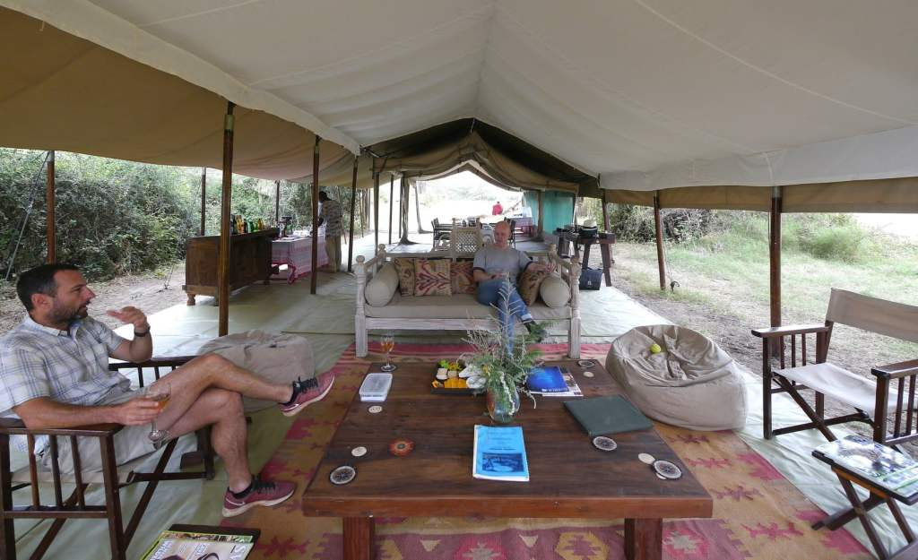 Mobile tented camp common tent