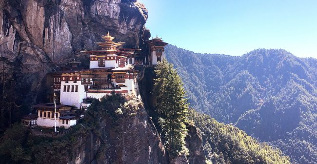 """Tiger's Nest from the start of the stairs"""