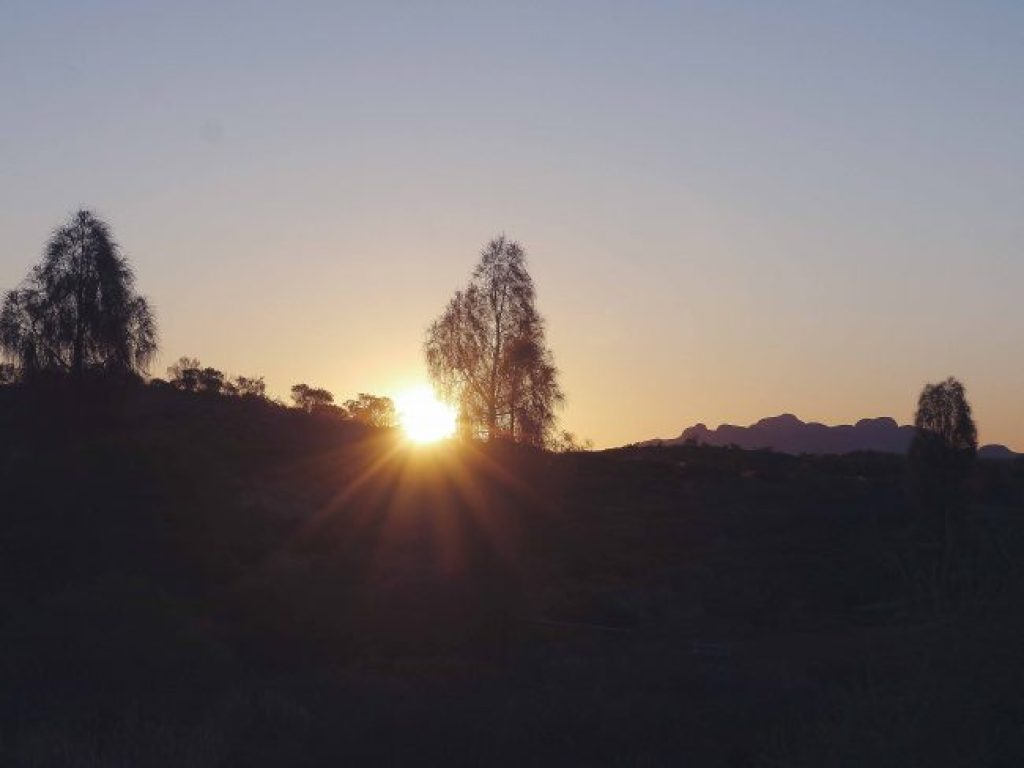 Sunset over Kata Tjuta