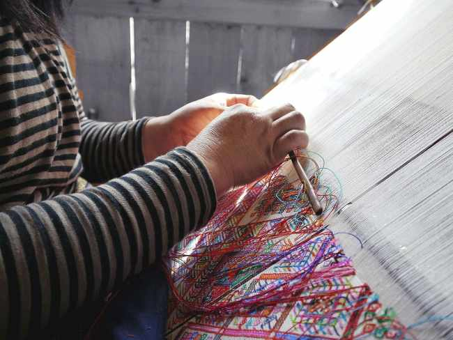 """Weaving in Bhutan"""