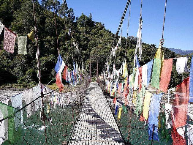 """Suspension bridge to Amankora Punakha'"