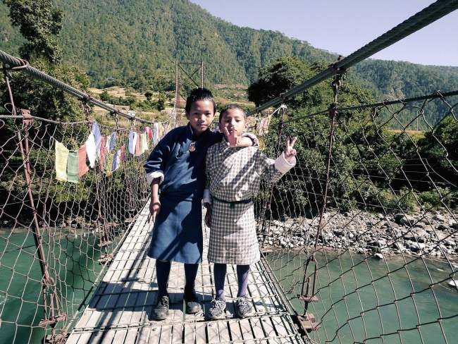 """Longest suspension bridge in Bhutan"""