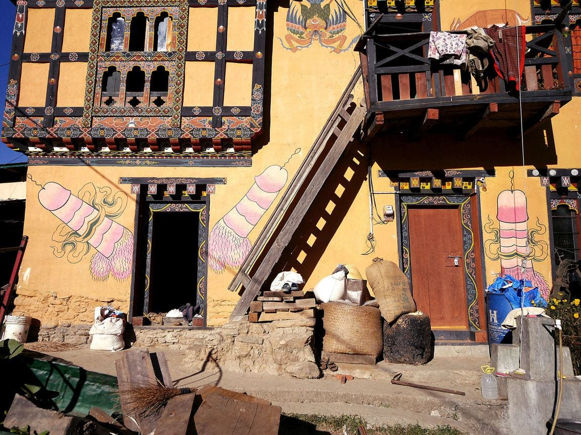 Fertility temple Chimi Lhakhang is one of the Photos of Bhutan