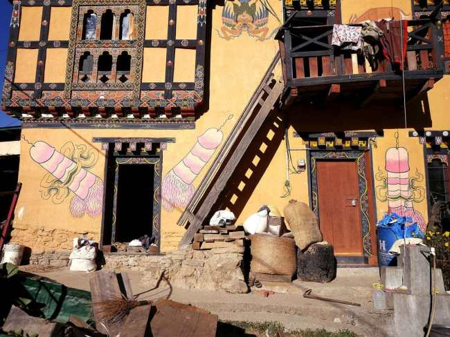 """Village next to Fertility temple Chimi Lhakhang"""