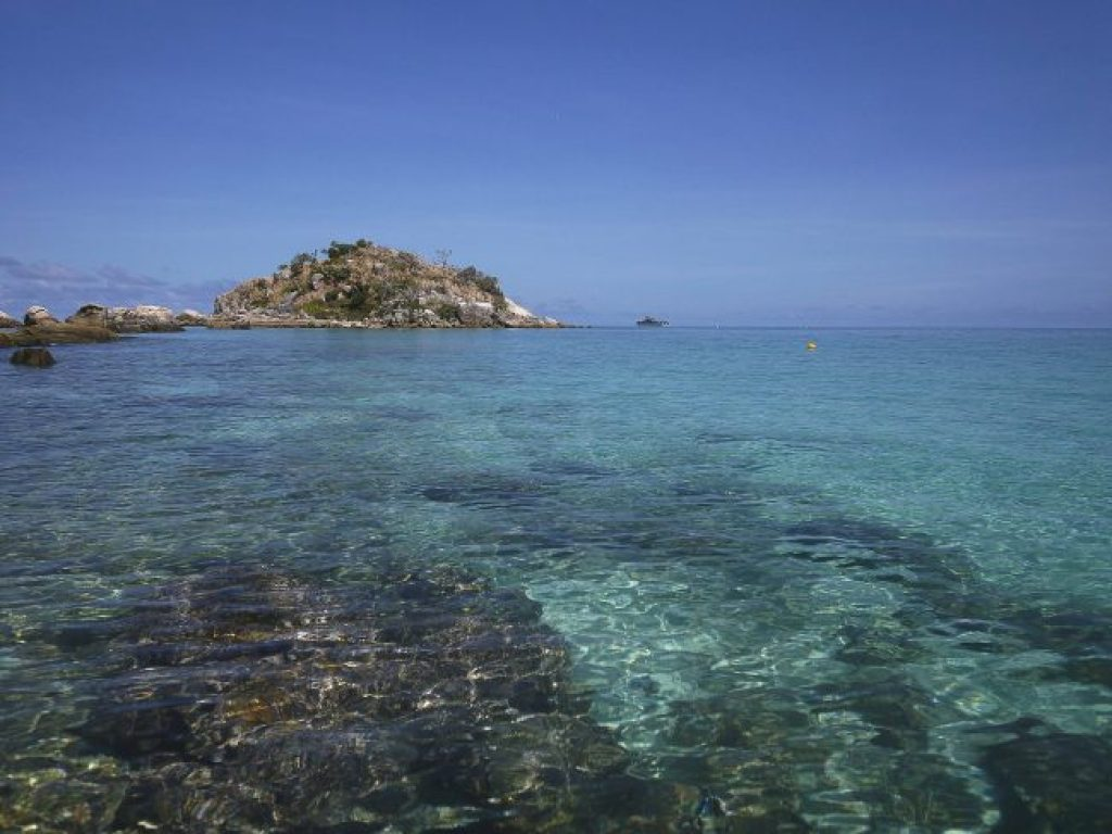 Chrystal clear waters on Lizard Island