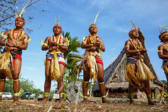 """""""Traditional dancers in Yap"""""""