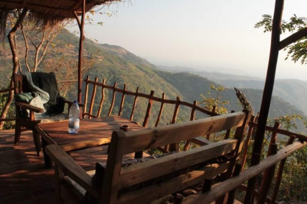View from a chalet in Lukwe near Livingstonia