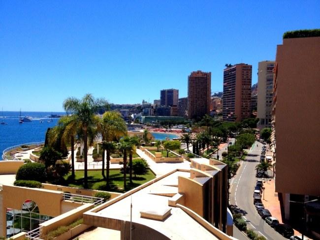 View of the Riviera in Monaco