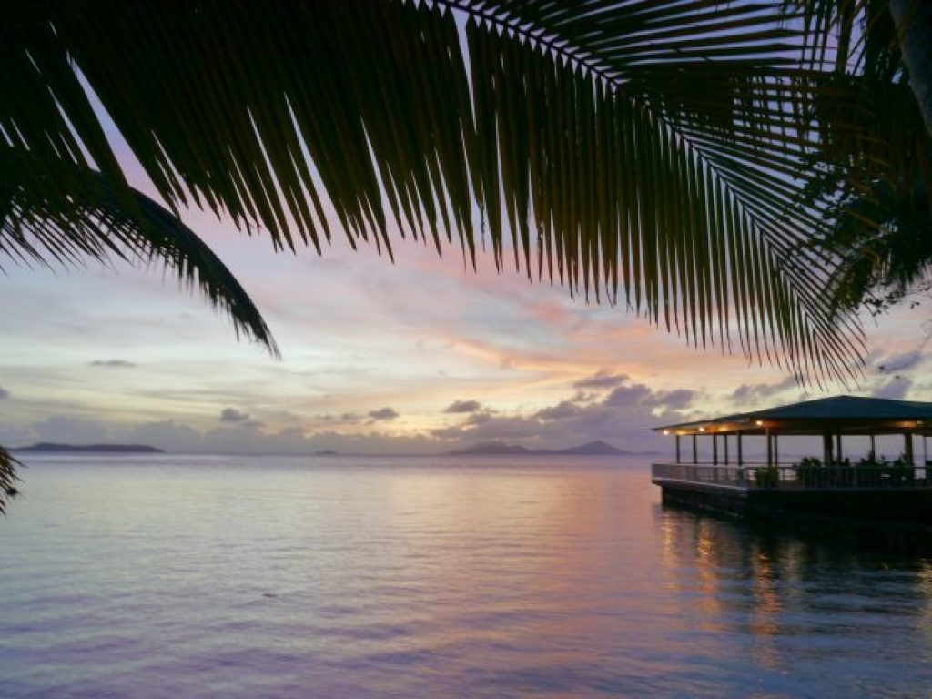 Sunset on Blue Lagoon resort Chuuk