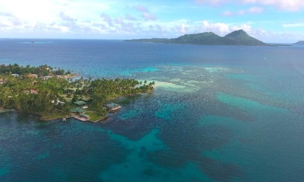 Chuuk Lagoon drone shot