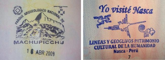 Rare passport stamps