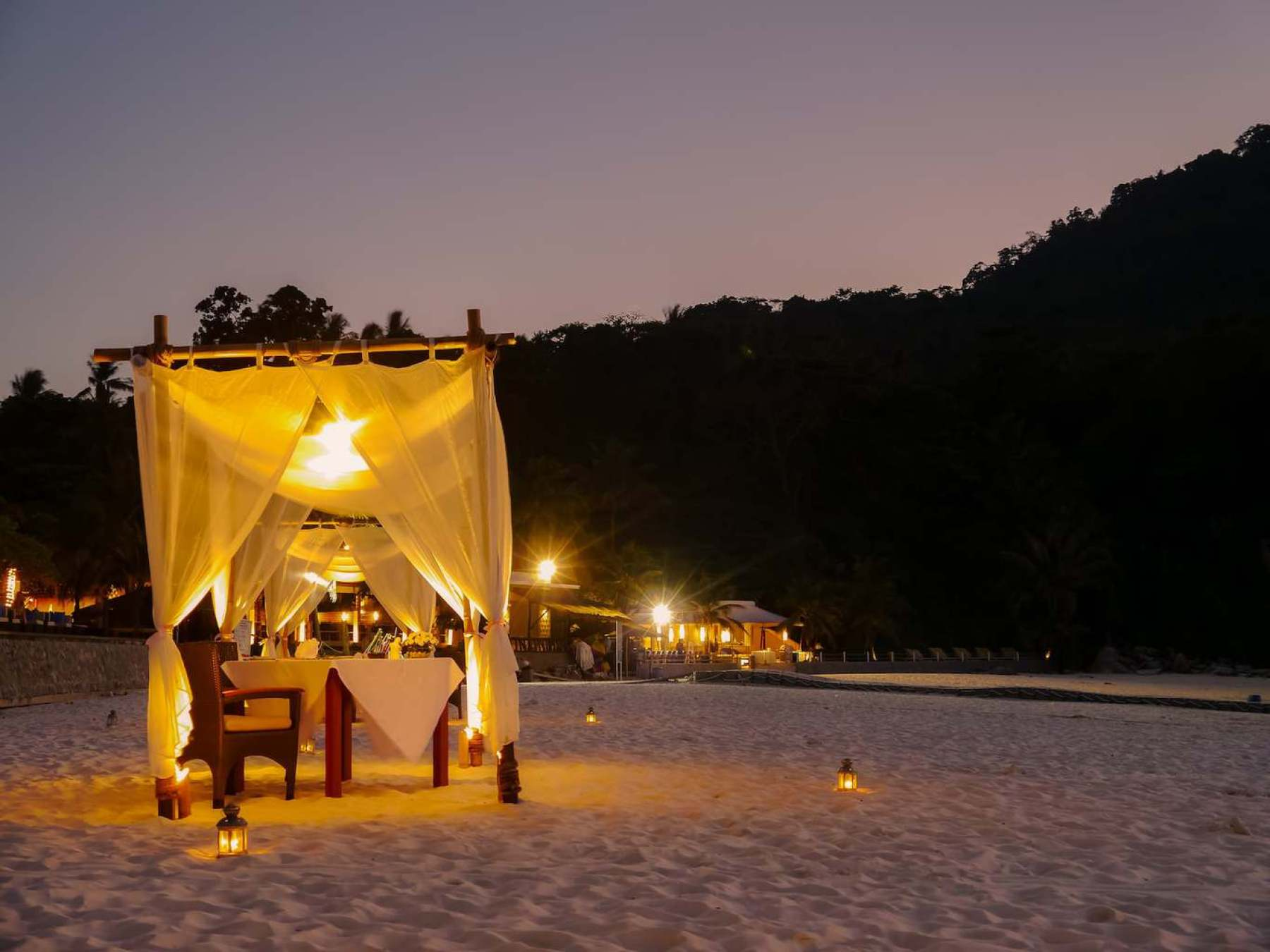 Our private tent on the beach
