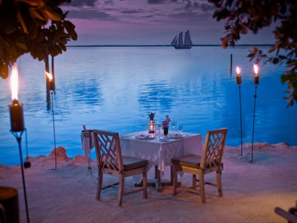 Sunset private dining at Little Palm Island Resort & Spa