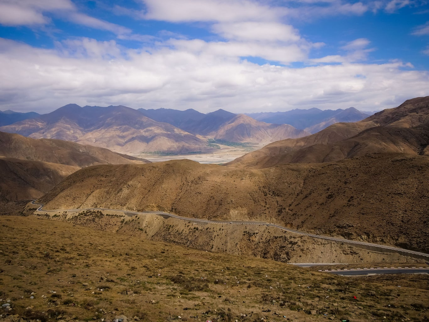 View from above Tibet