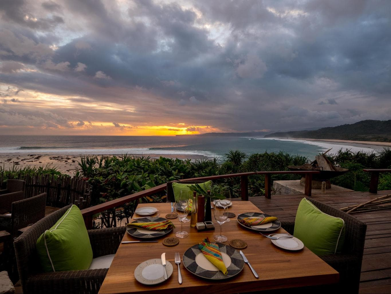 Nihi Sumba Hotel review, Sunset Dinner view