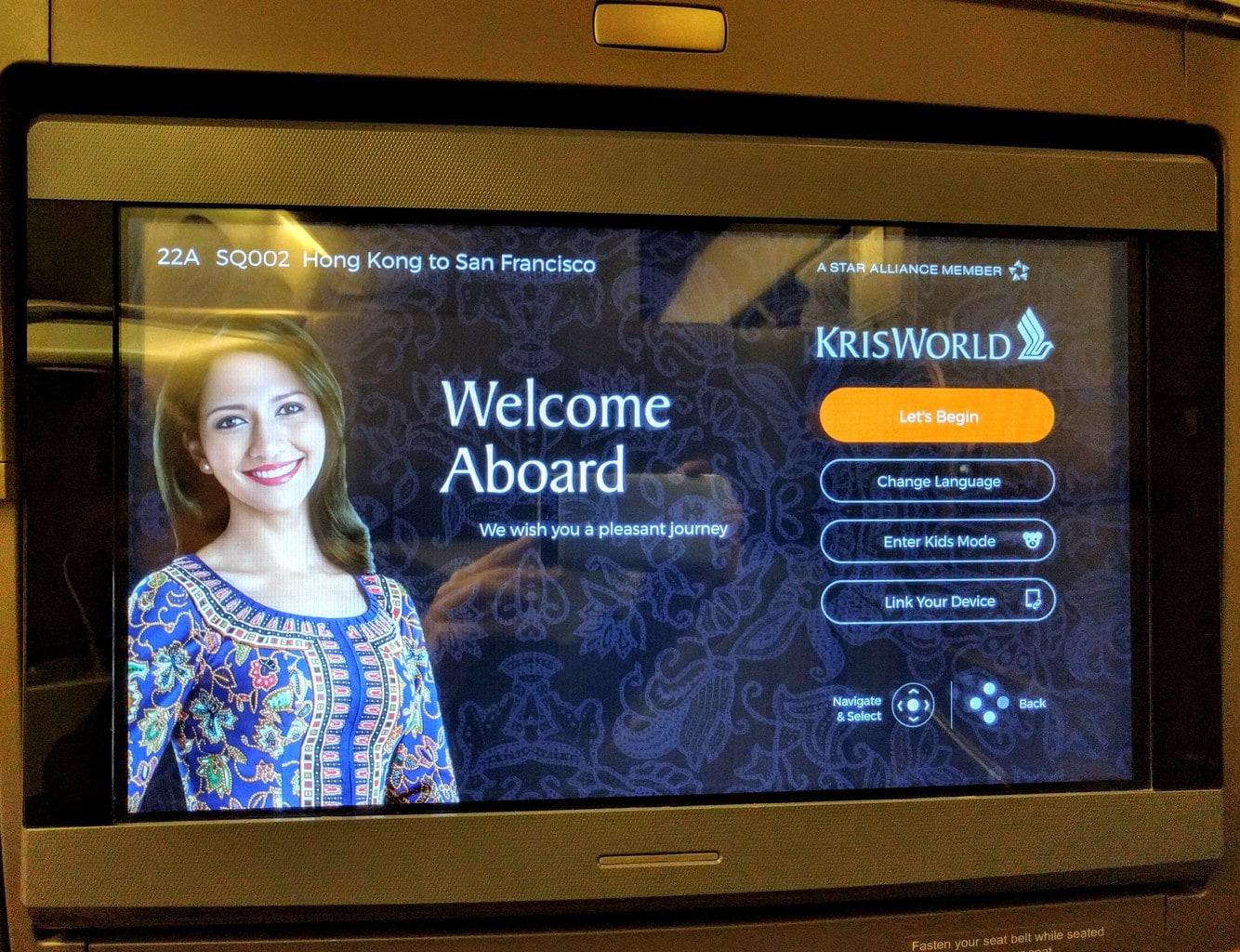 Singapore Airlines Business Class, kris