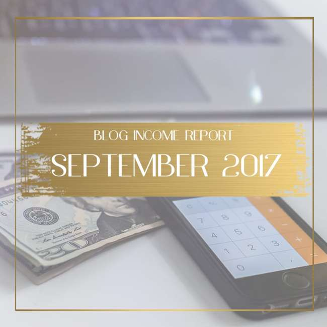 Income Report for September 2017 feature