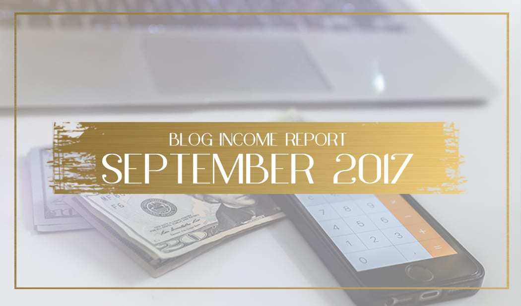 Income Report for September 2017 main